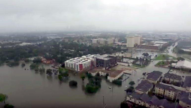 """Schockierendes Drohnen-Video: Das hat """"Harvey"""" in Texas angerichtet"""