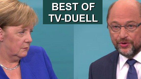 Best of TV-Duell: Merkel gegen Schulz