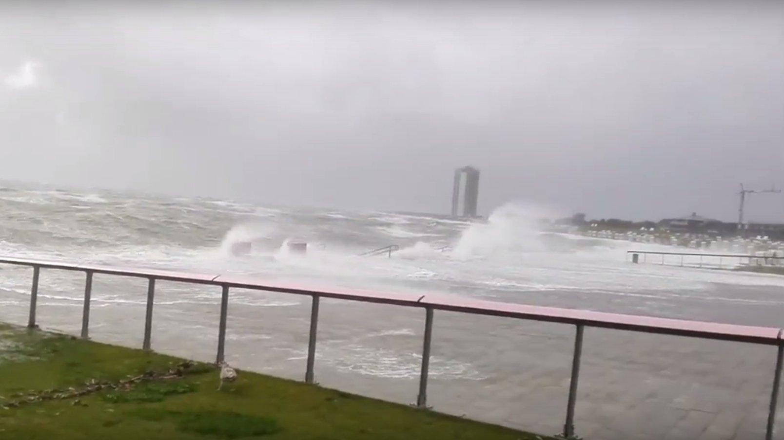So wütet Sturm Sebastian an der Nordseeküste