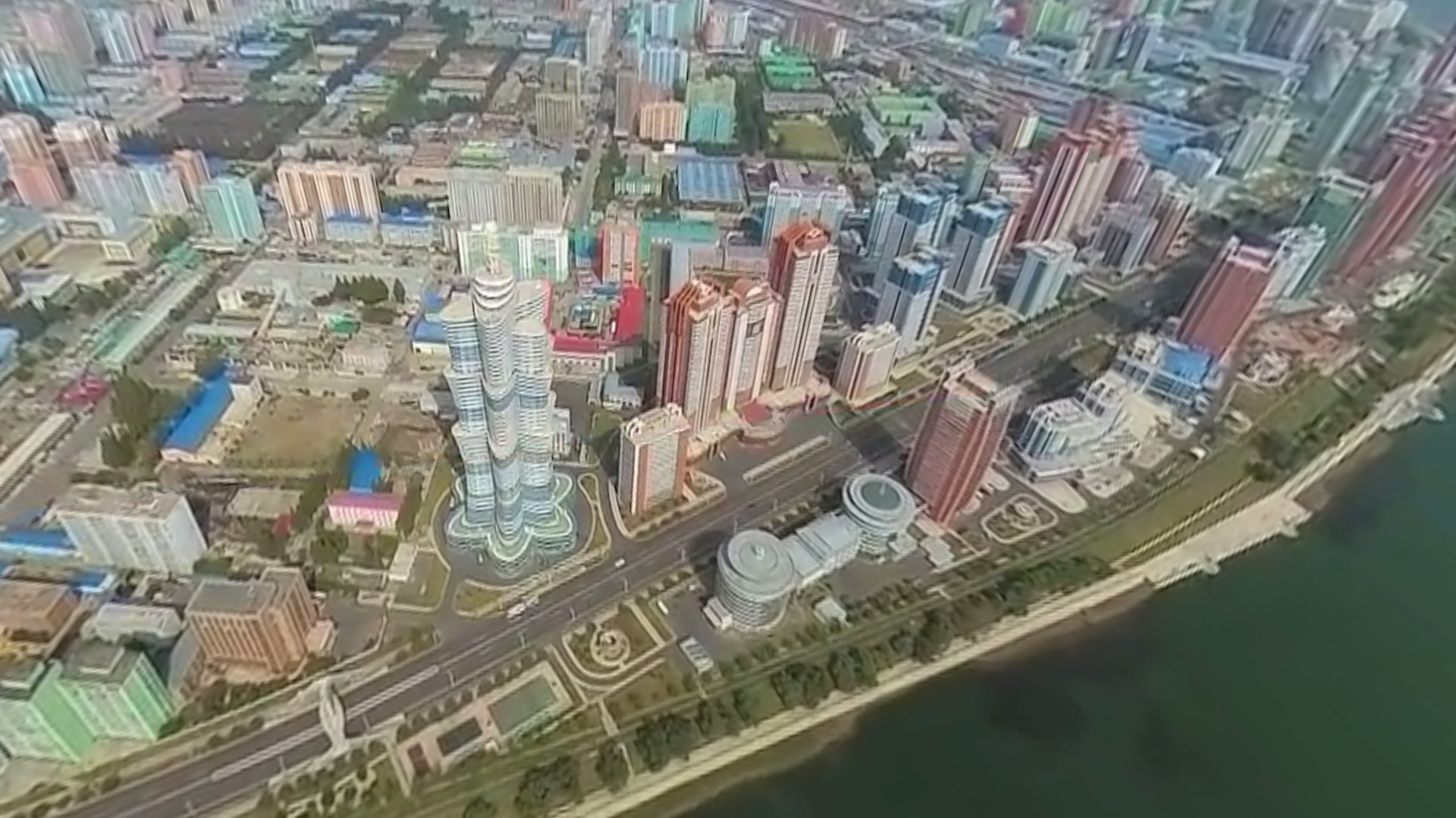 Nordkorea von oben: 360°-Flug über Pjöngjang