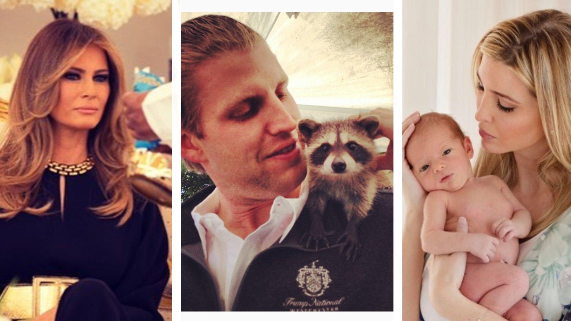 Katzen, Babys, Emojis: So zeigt sich Familie Trump auf Instagram