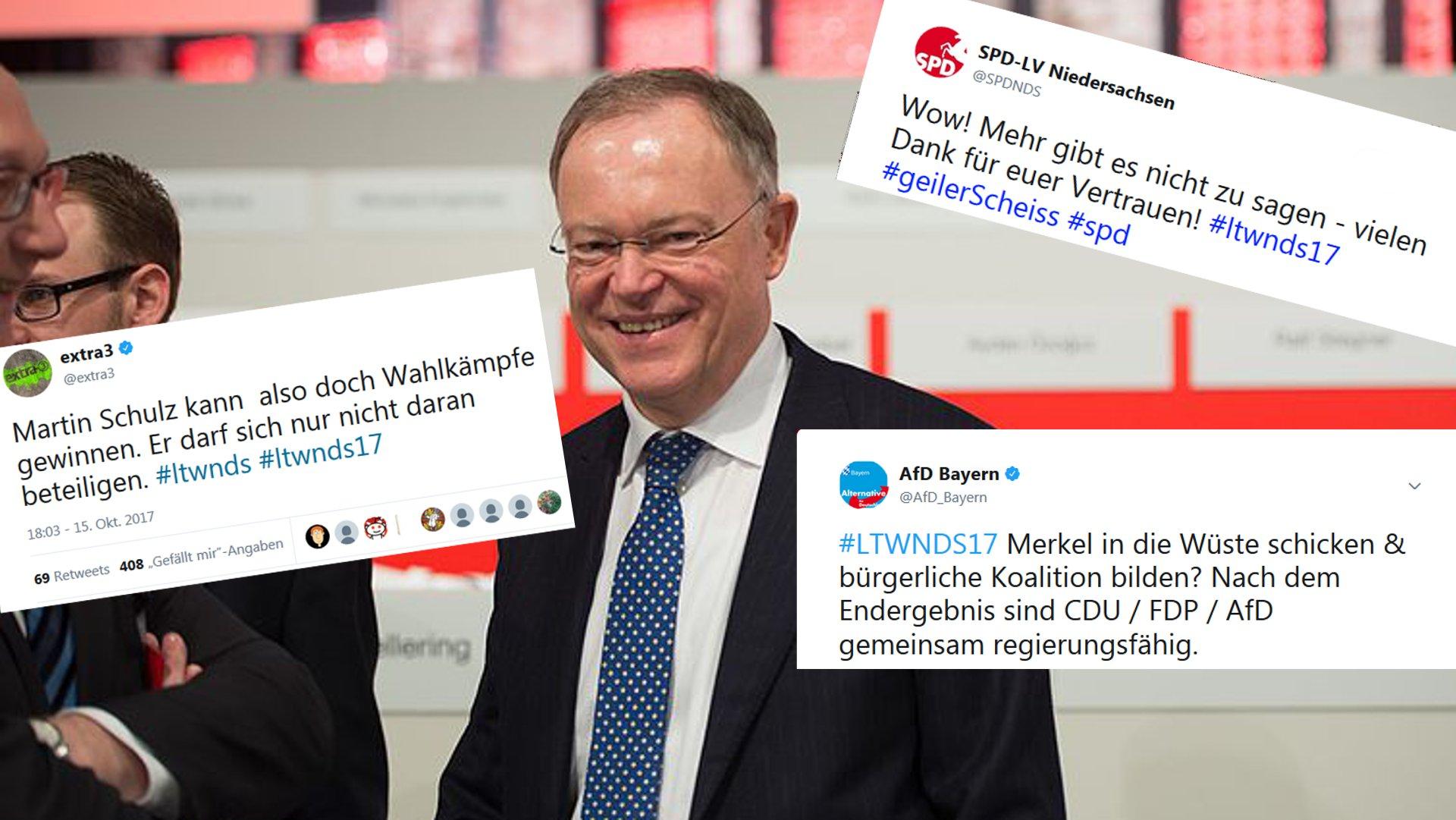 So bewertet das Netz die Wahl in Niedersachsen. Foto: Olaf Kosinsky