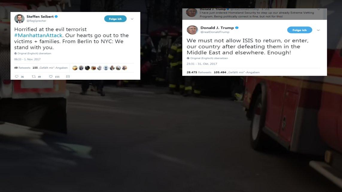 Terror in Manhattan. Die Reaktionen bei Twitter