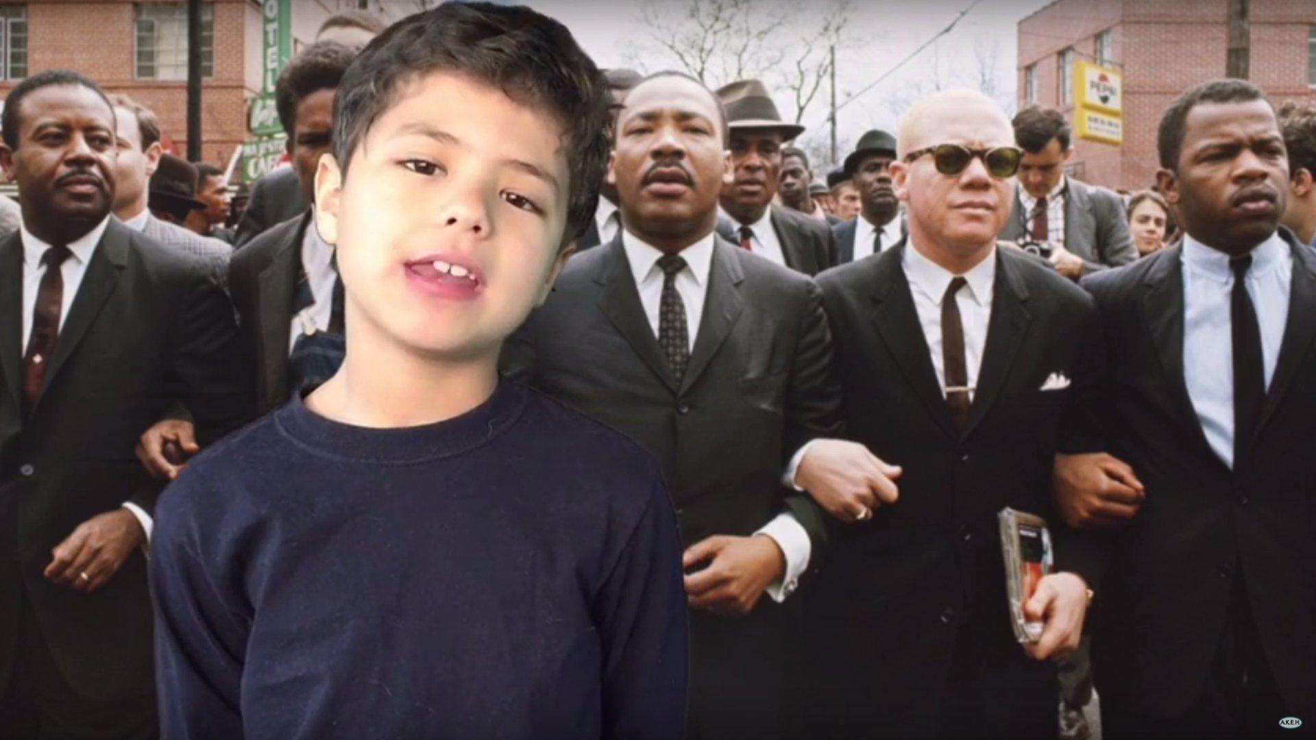 Zu Ehren von Martin Luther King: Zehnjähriger Junge erklärt Geschichte