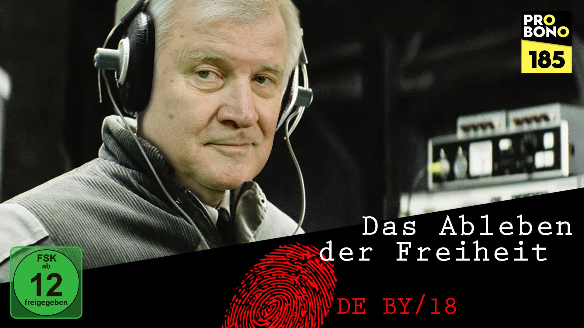 """Horst Seehofer in """"Das Ableben der Freiheit"""" (probono Magazin)"""
