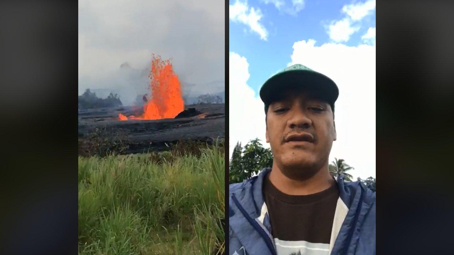 Anwohner filmt Vulkanausbruch in Hawaii aus der Nähe
