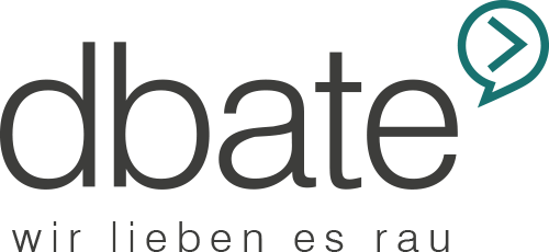 dbate – Videos. News. Debatte. Logo