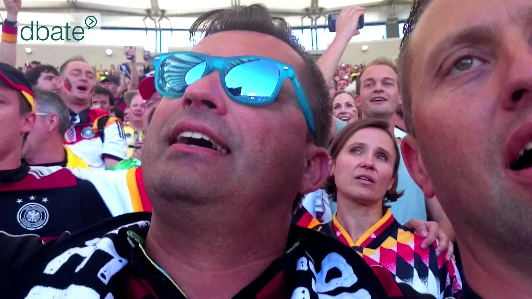 Deutsche Fans im Maracana-Stadion, Brasilien 2014.