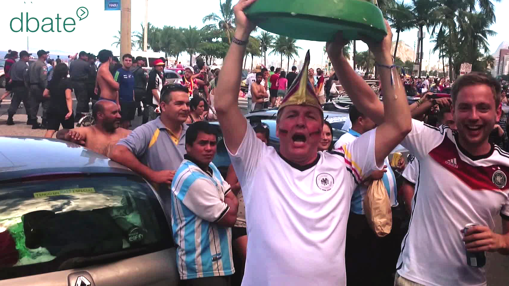 Deutsche Fans feiern in Rio de Janeiro, 2014.