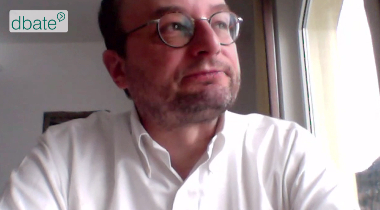 FAZ-Journalist Nils Minkmar vor der Skype-Kamera