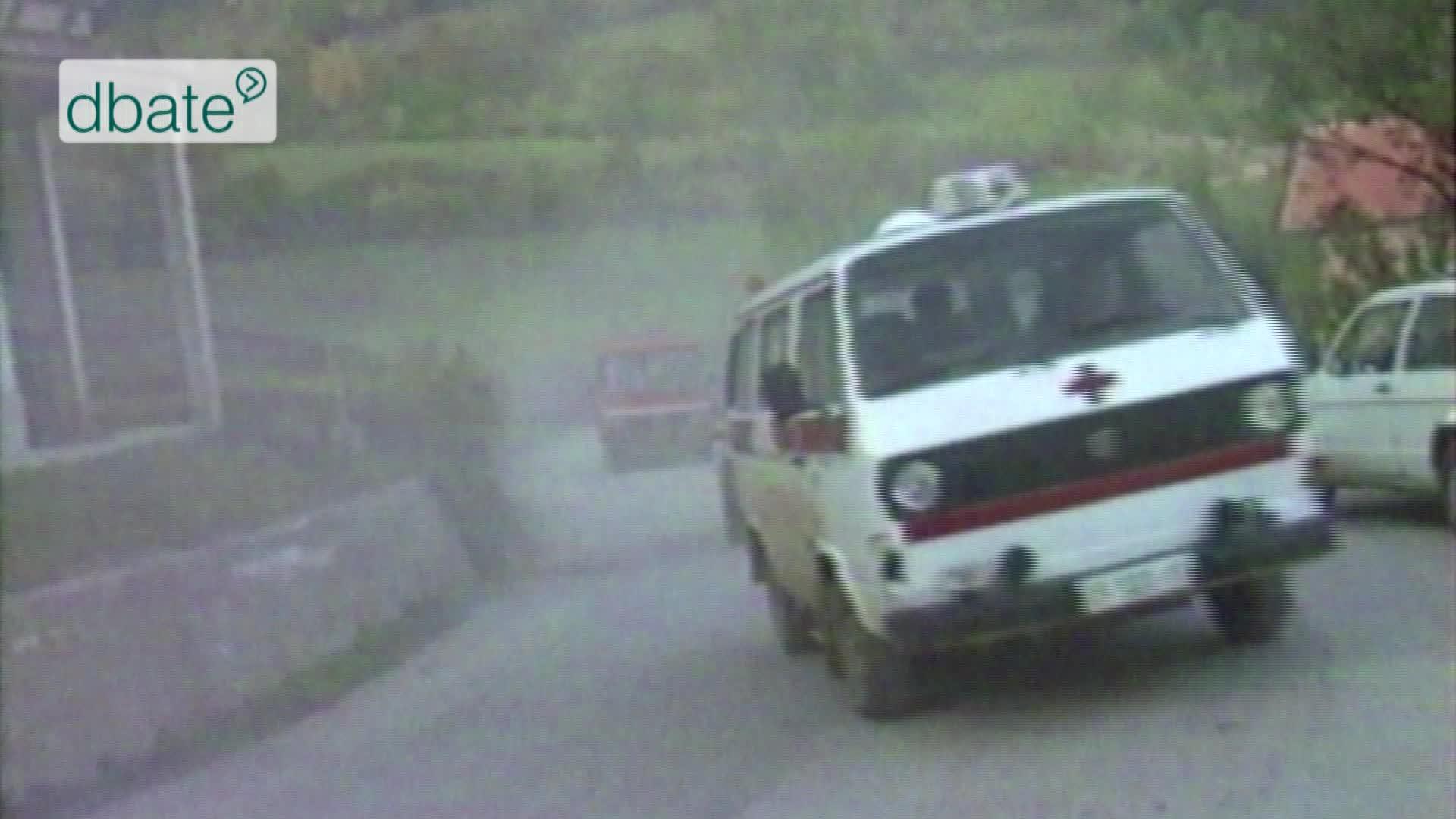 Ein Krankenwagen im Kroatienkrieg.