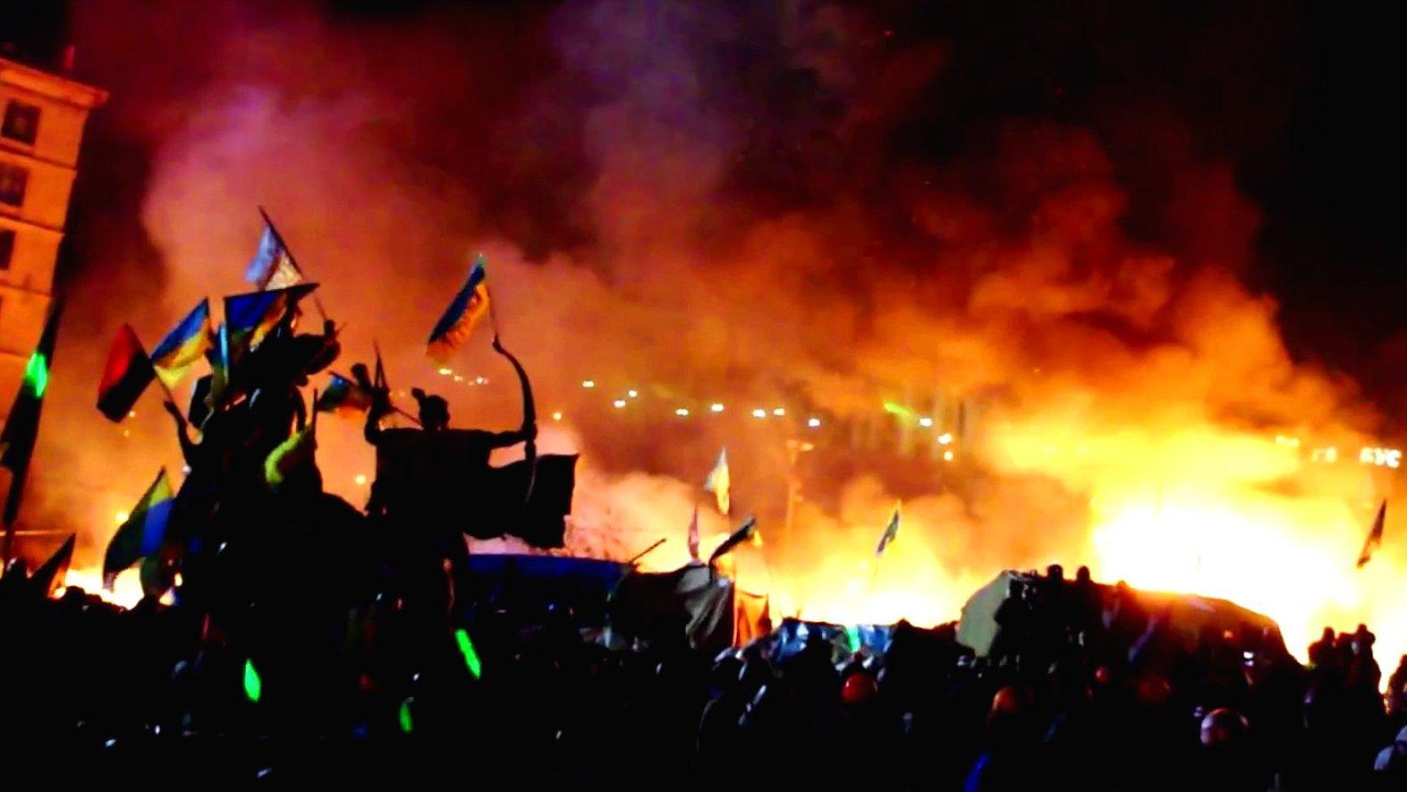 Gewalt auf dem Maidan-Platz in Kiew, 2014