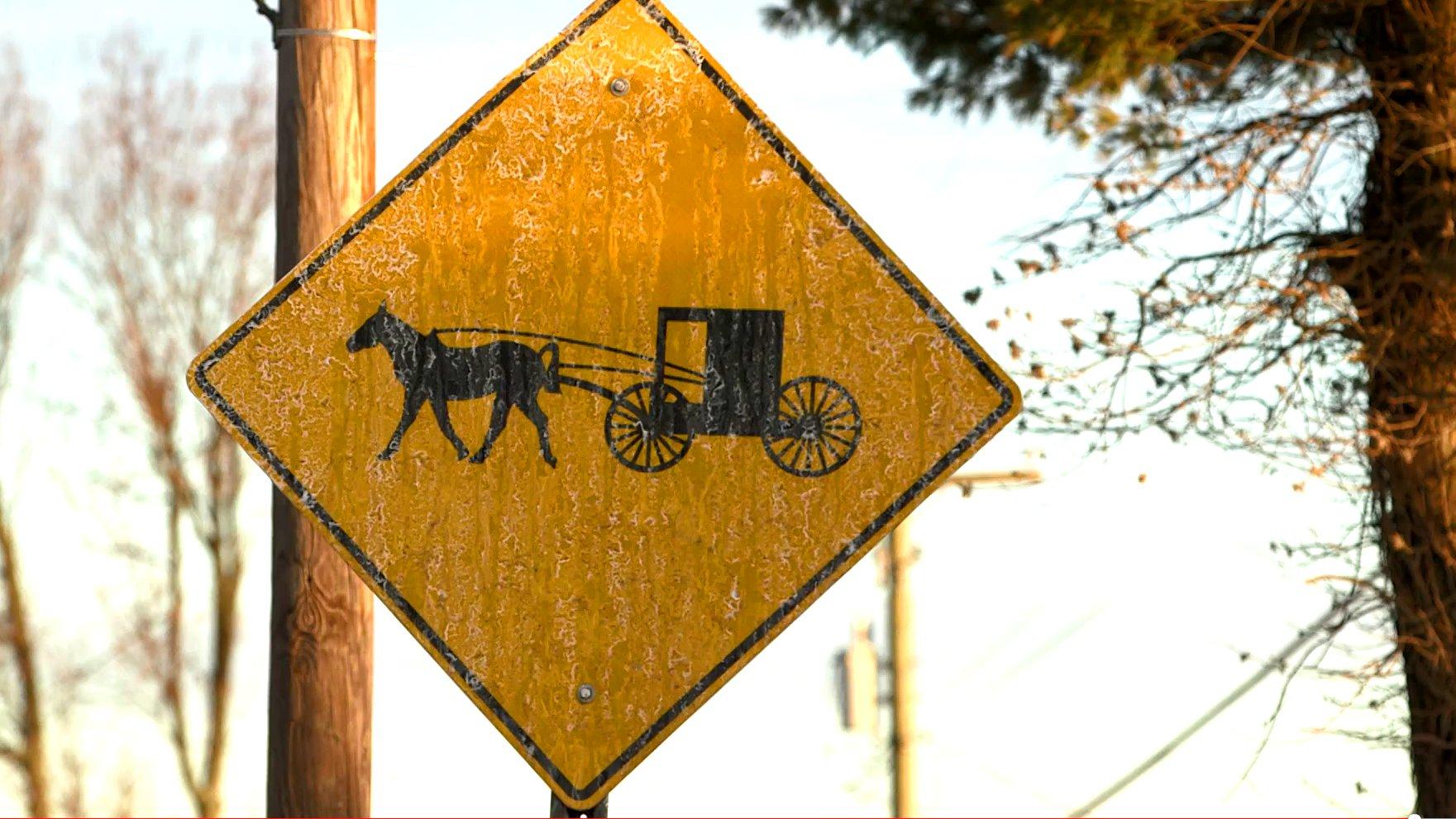Ein Straßenschild in Berlin, Ohio.