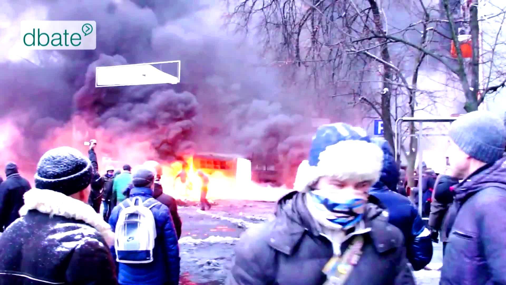 Ukrainische Demonstranten auf dem Maidan, Kiew.