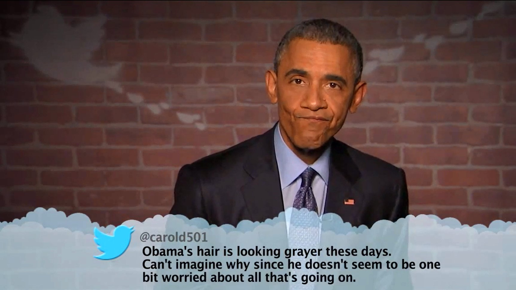 "Barack Obama liest ""mean Tweets""."