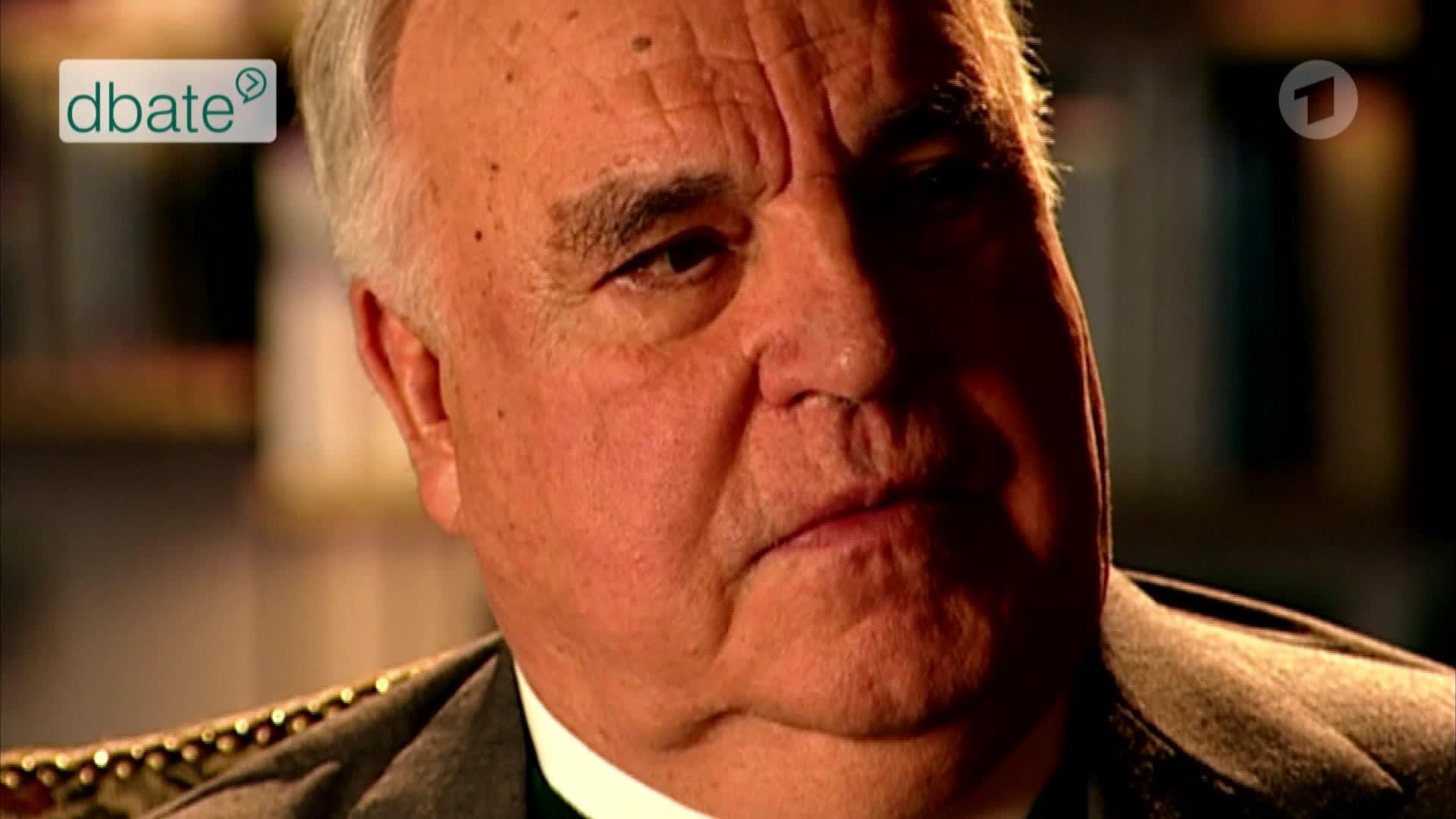 Ex-Bundeskanzler Helmut Kohl im Interview mit Stephan Lamby und Michael Rutz.