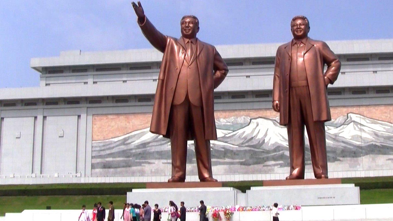 Kim Jong Un und Kim Jong Il in Nordkorea.