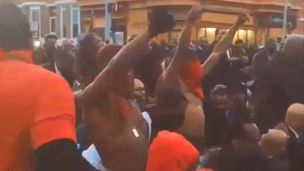 Demonstranten in Baltimore.