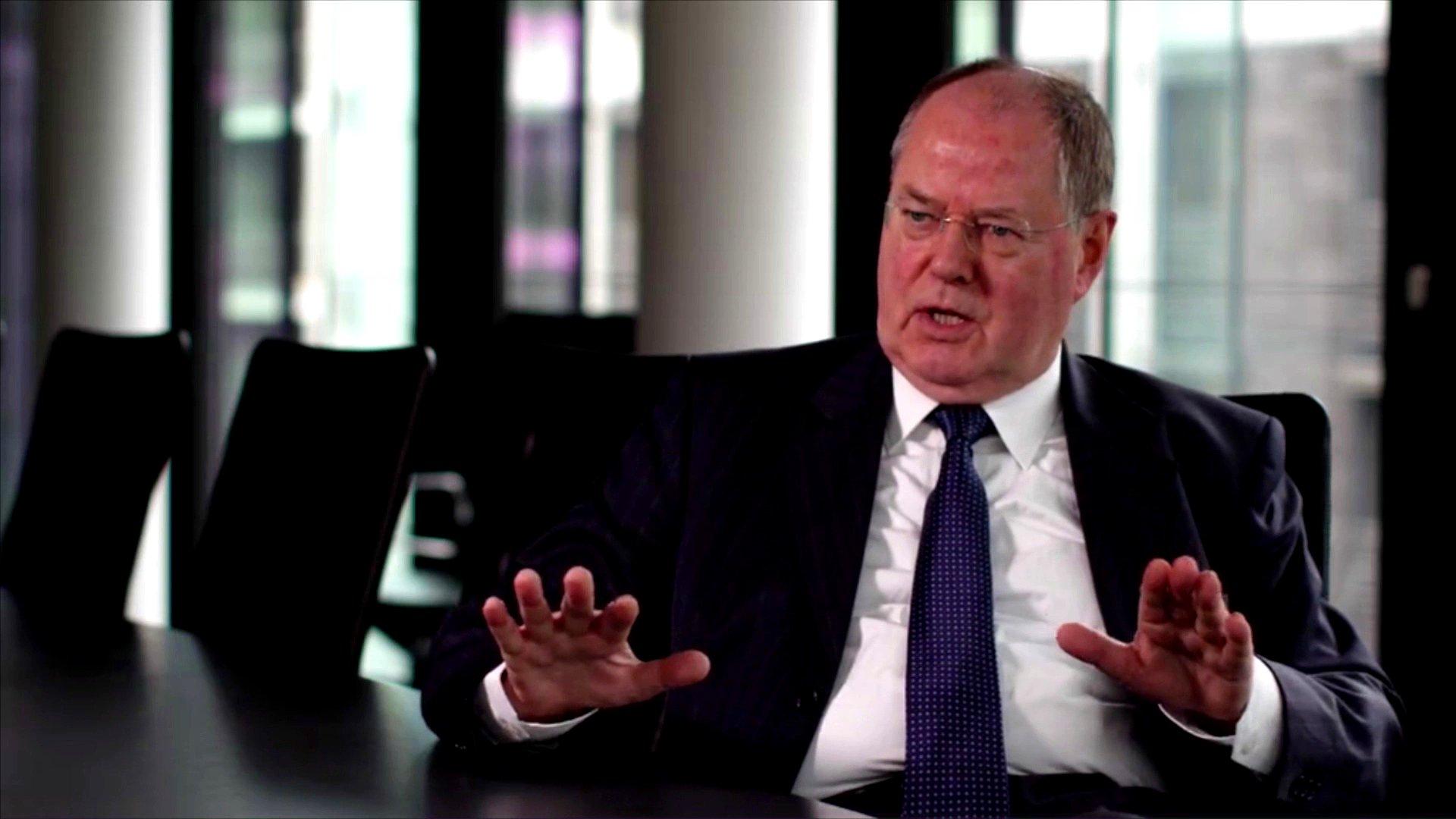 ex-Bundesfinanzminister Peer Steinbrück im Interview