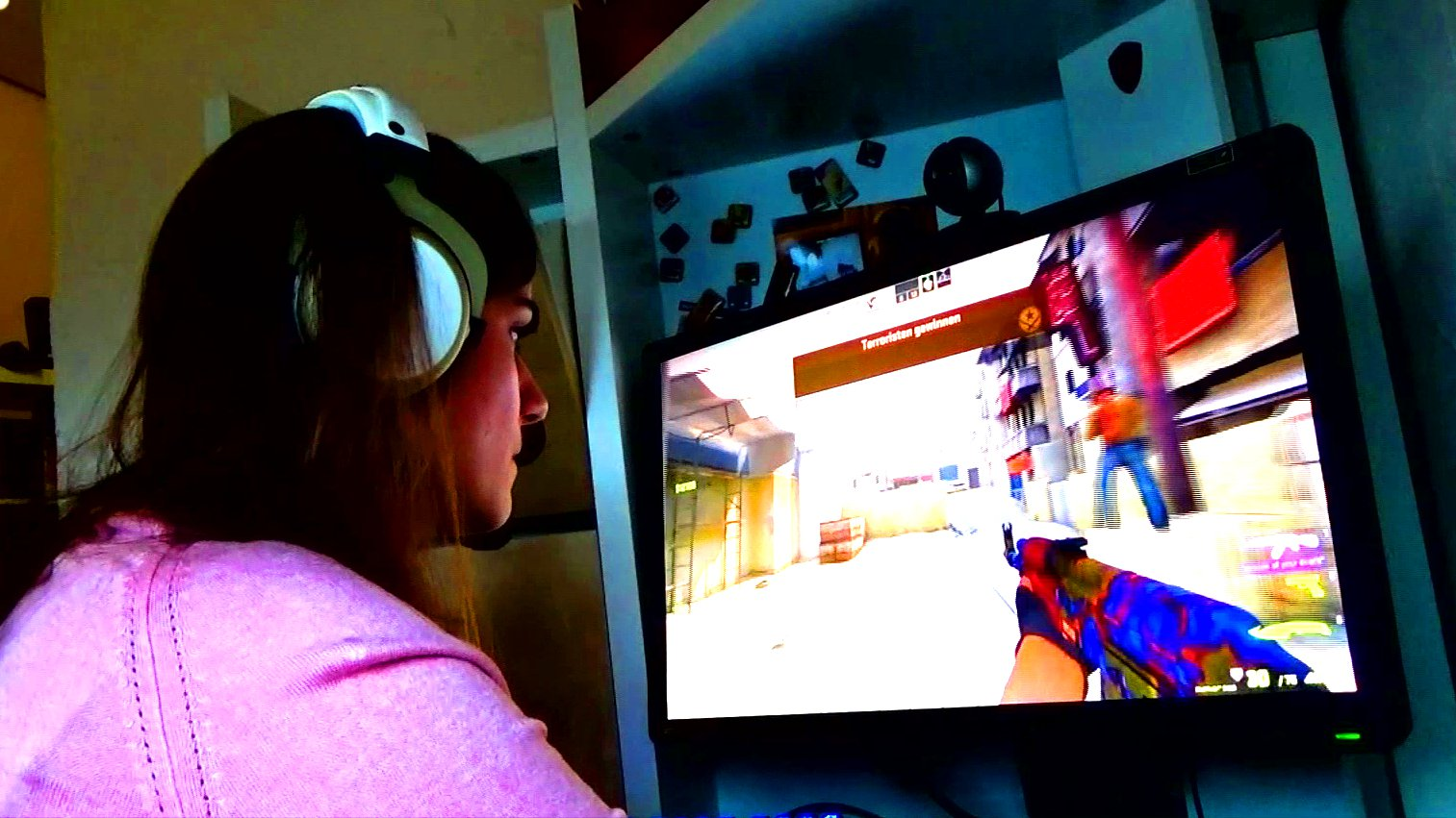 Counter Strike Pro-Gamerin Lisa Catino aus Stuttgart, 2015.
