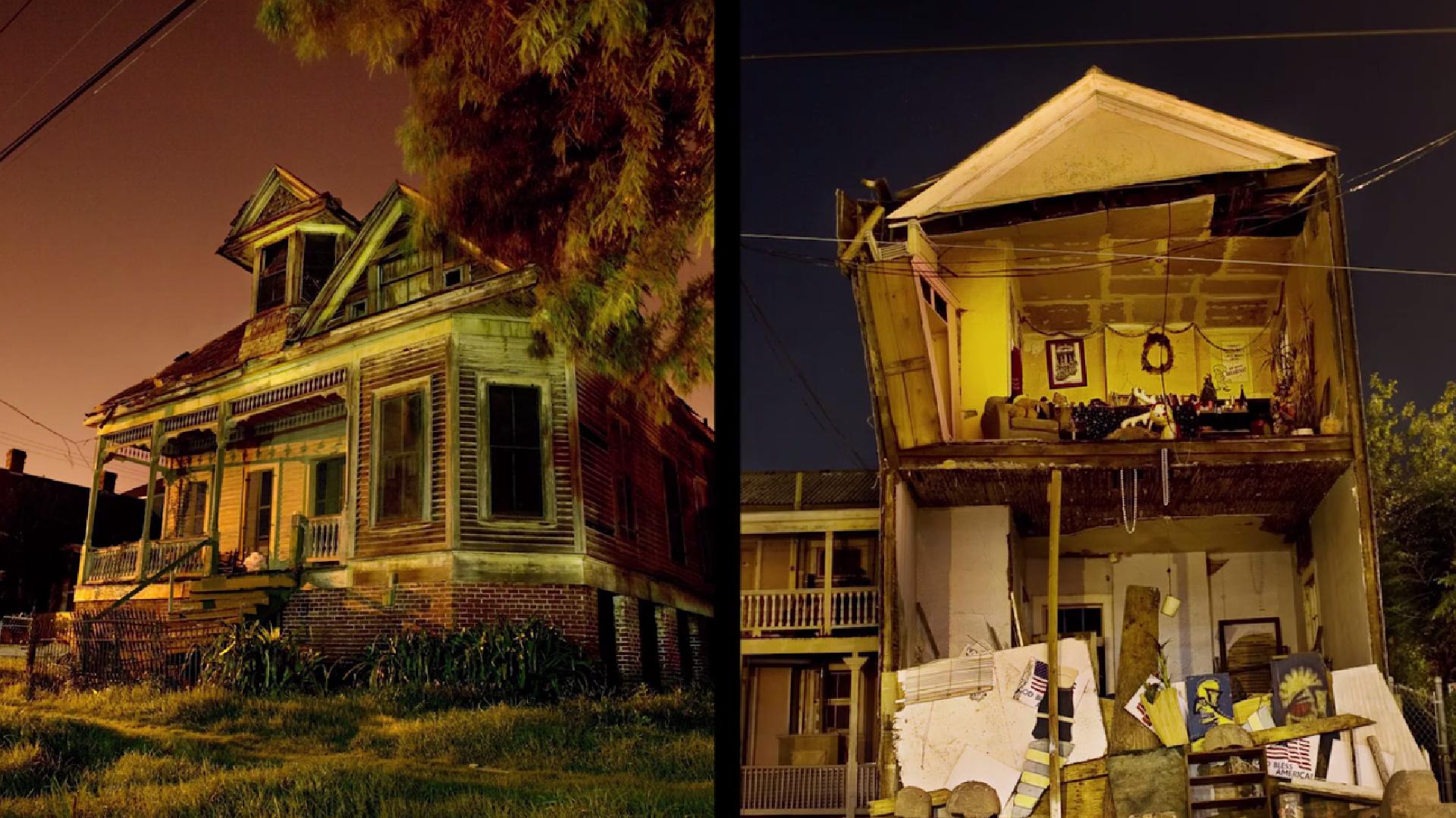 Fotos aus dem zerstörten New Orleans nach dem Hurricane Katrina, 2005.