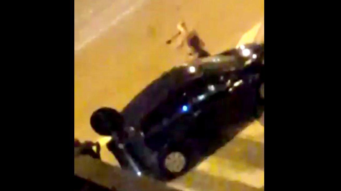 Anti-Terror-Razzia in Saint Denis bei Paris, 2015.