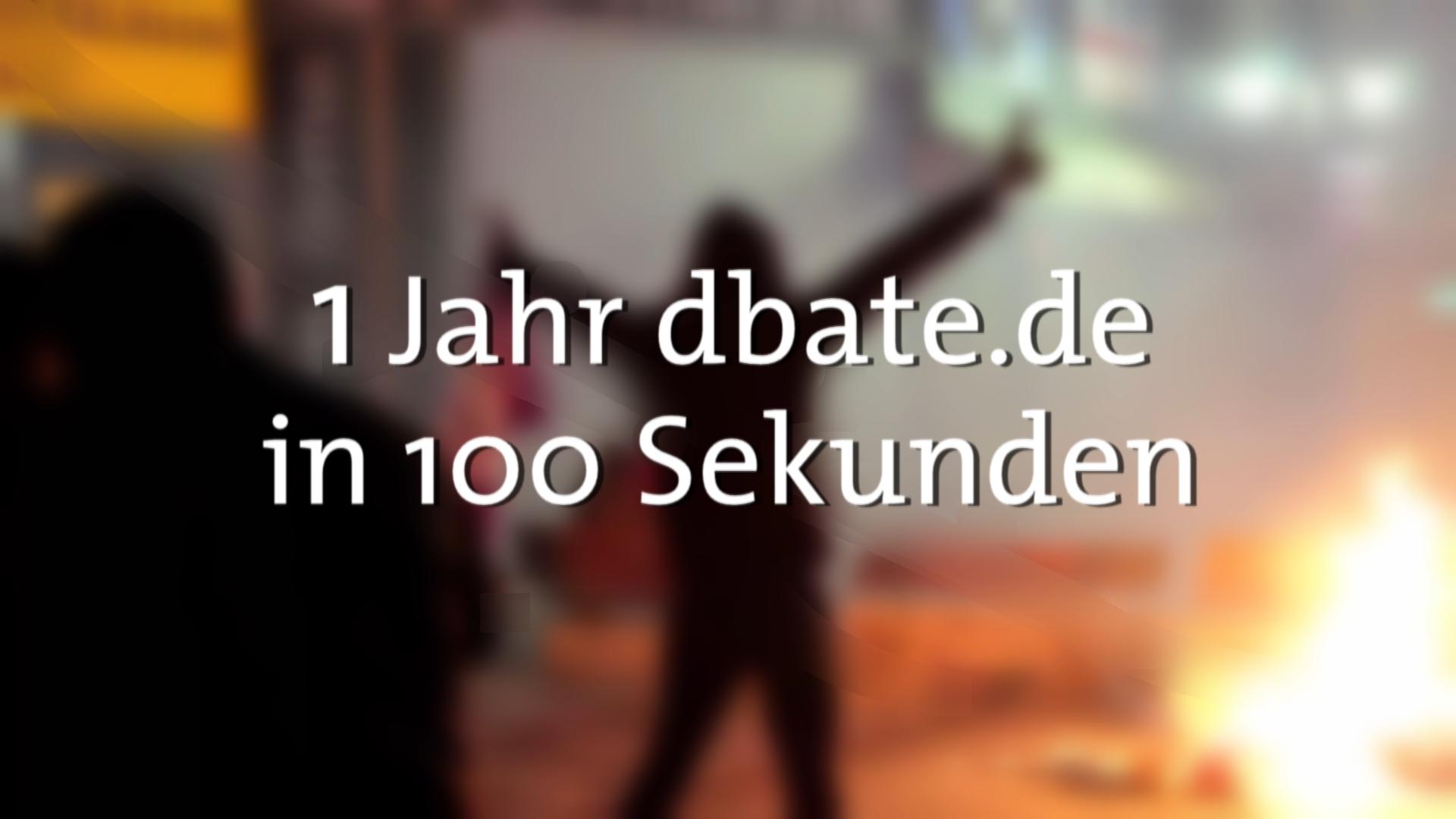 1 Jahr dbate.de in 100 Sekunden, 2015.