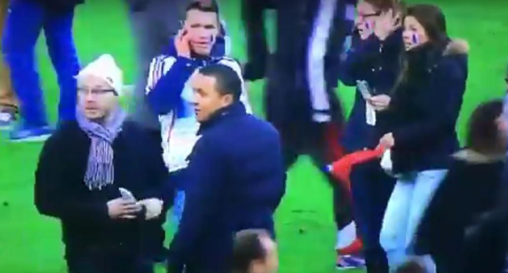 Terror in Paris während eines Fußballspiels zwischen Frankreich und Deutschland, November 2015