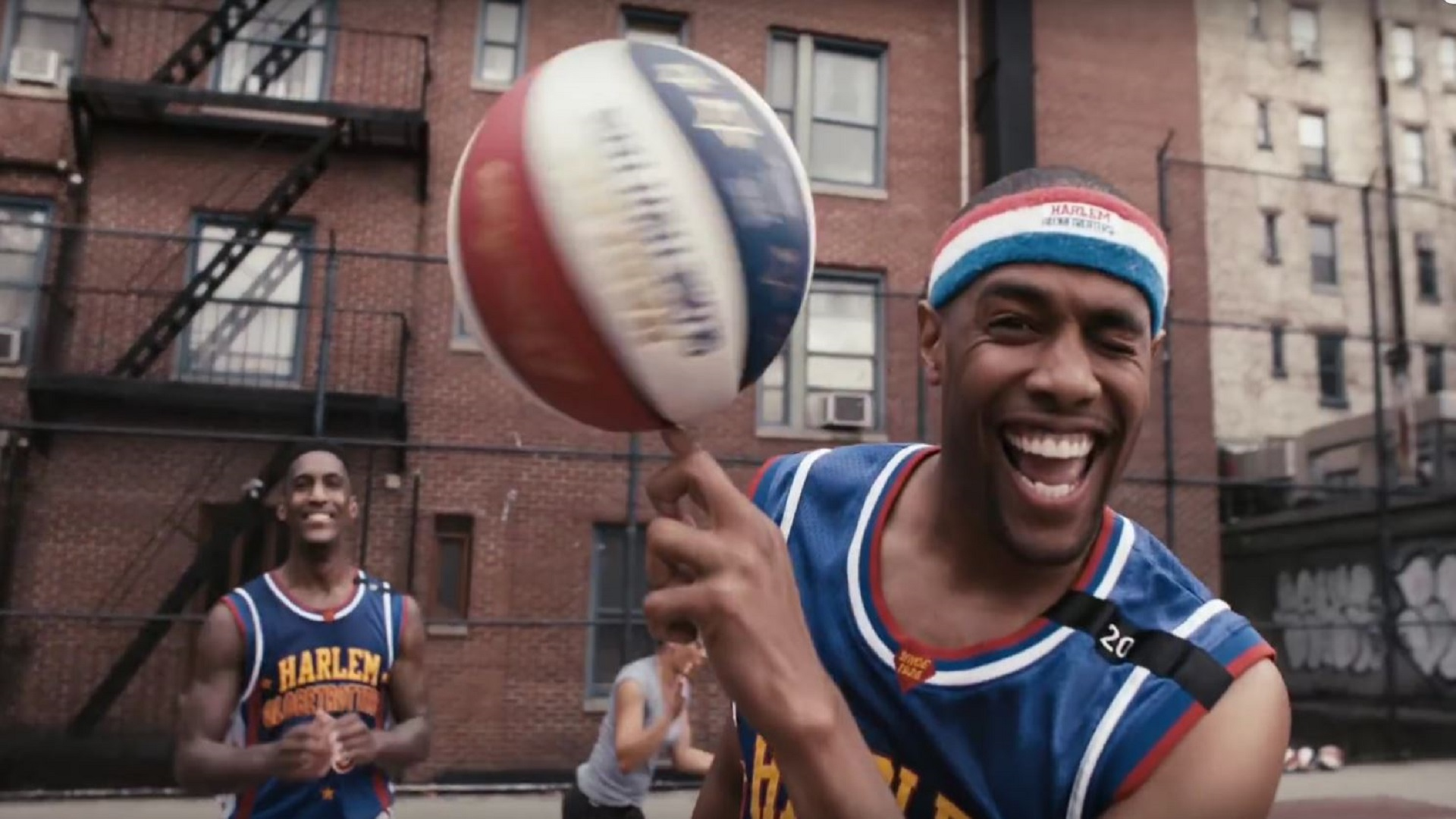 Basketballer Harlem Globetrotters (USA), 2015.