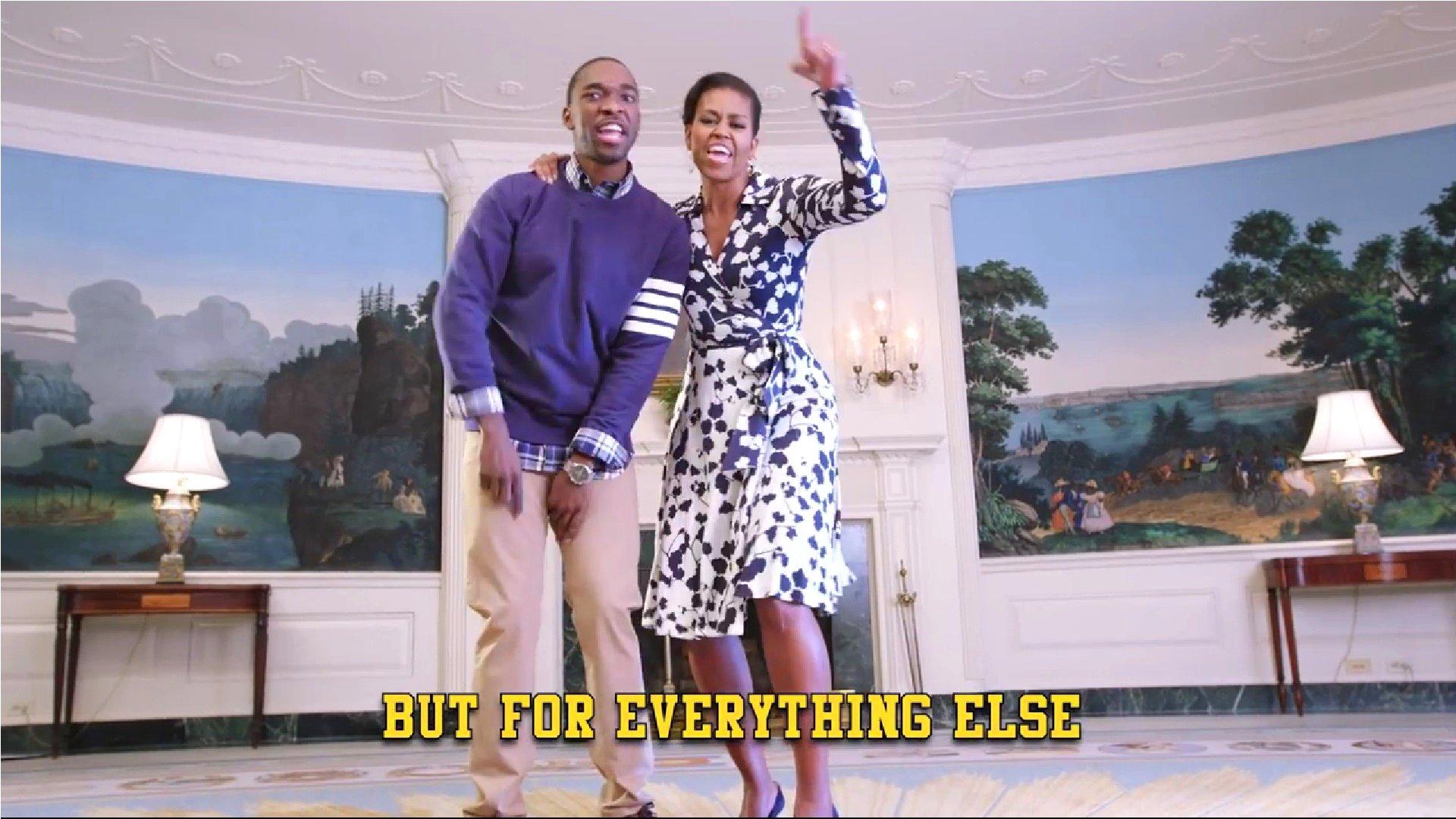 Michelle Obama rappt für Bildung