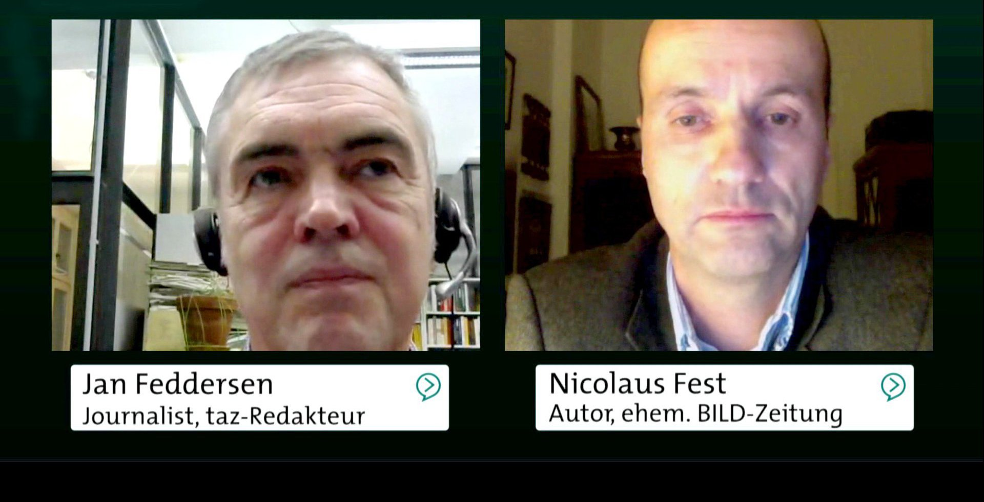 Abschiebegesetz verschärfen - Ja oder Nein? Jan Feddersen und Nicolaus Fest diskutieren, 2016.