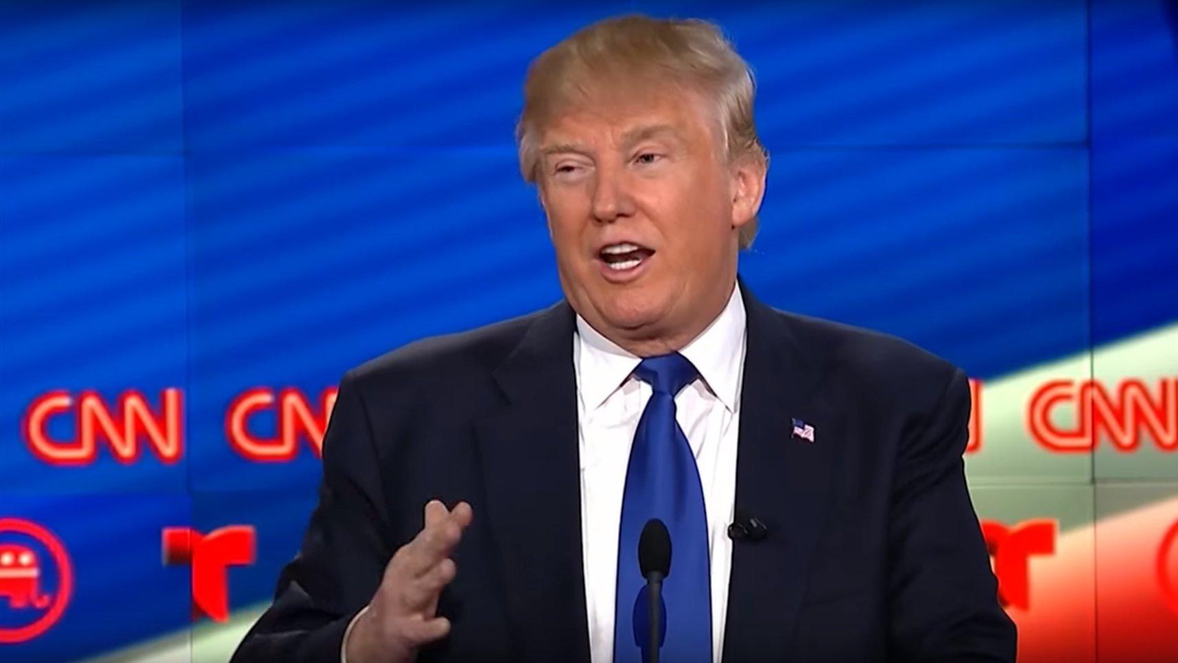 Donald Trump bei einer TV-Debatte der US-Republikaner, 2016