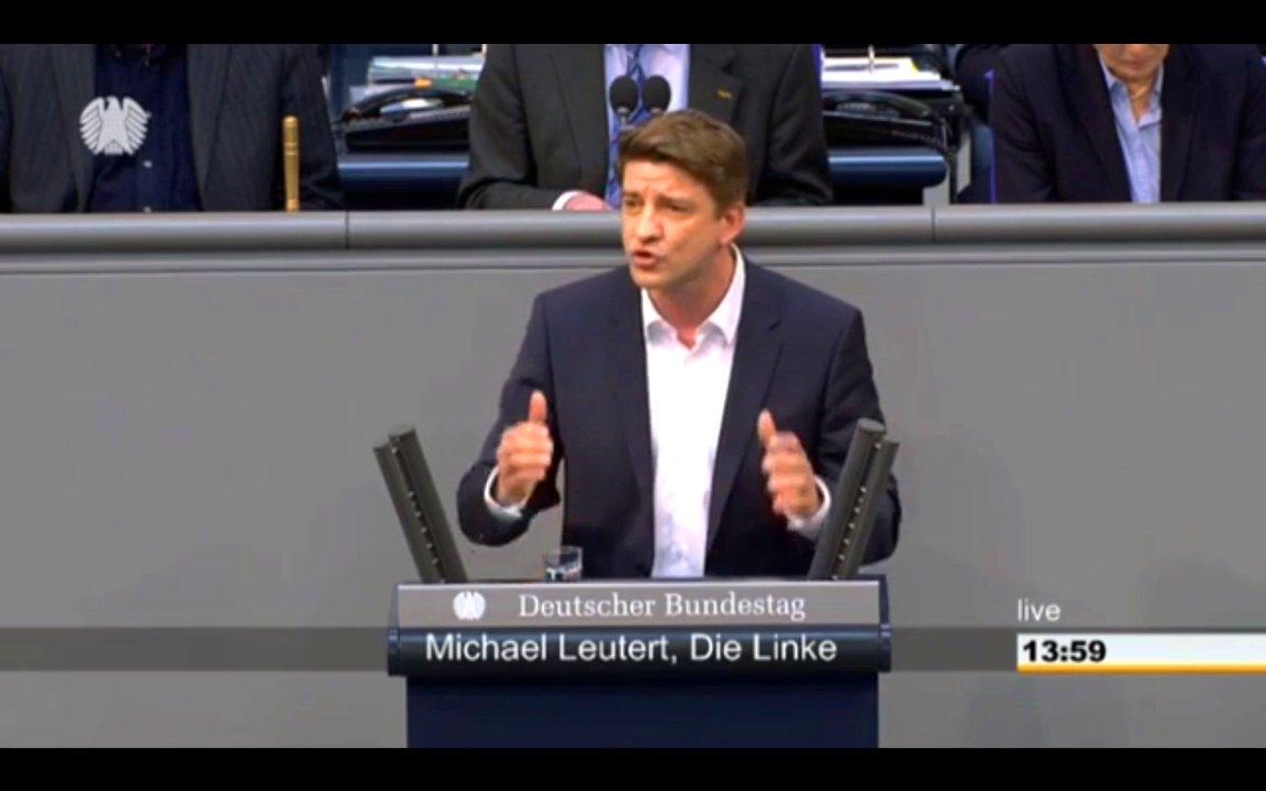 Michael Leutert (Die Linke) spricht im Bundestag über Clausnitz und Sachsens Problem mit Rechtradikalen