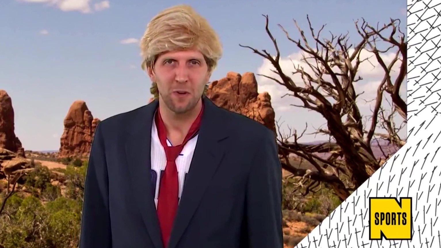 Basketballer Dirk Nowitzki über Donald Trump, 2016 (Video)