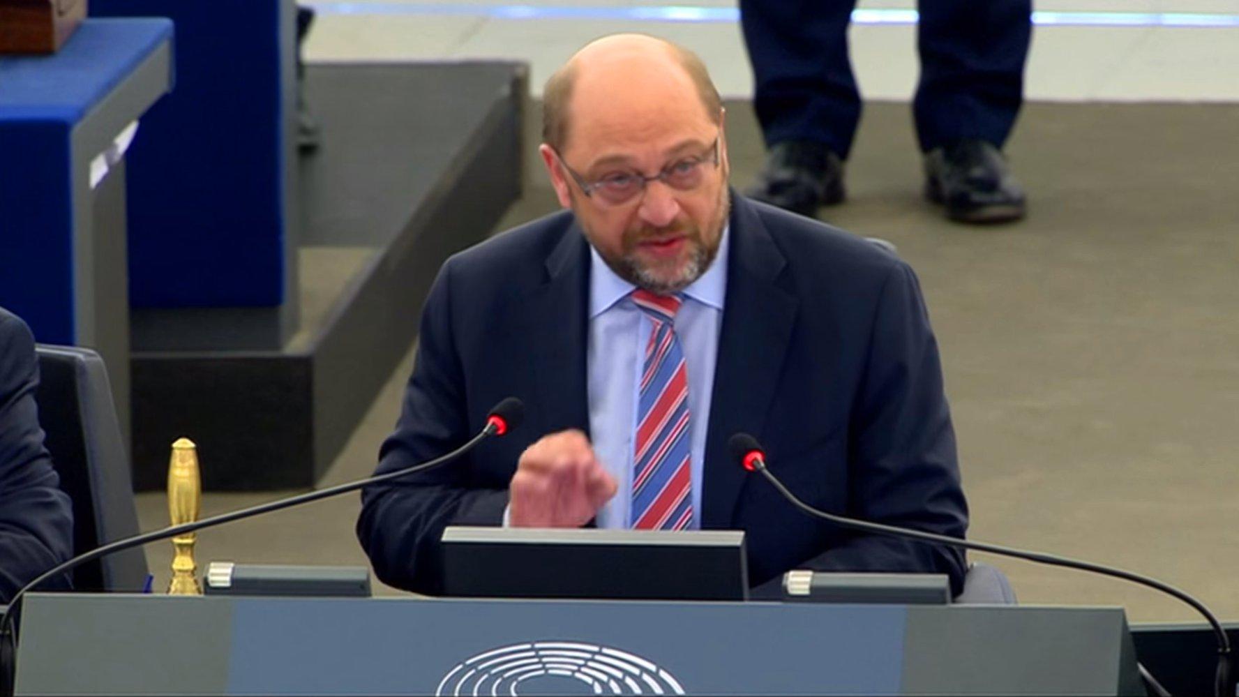 Martin Schulz im Europaparlament, 2016 (Video)