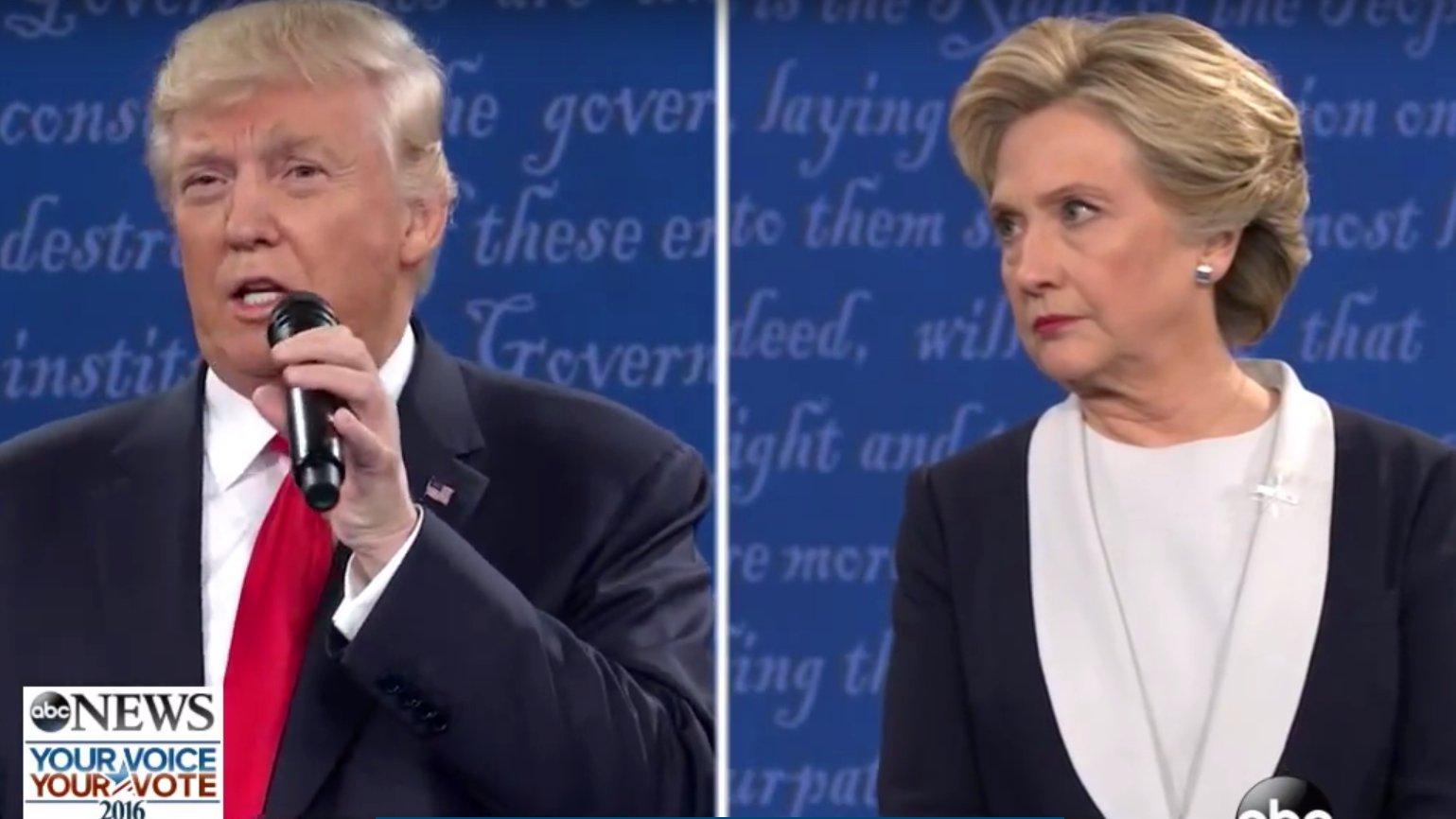 TV-Duell #2: Clinton vs. Trump