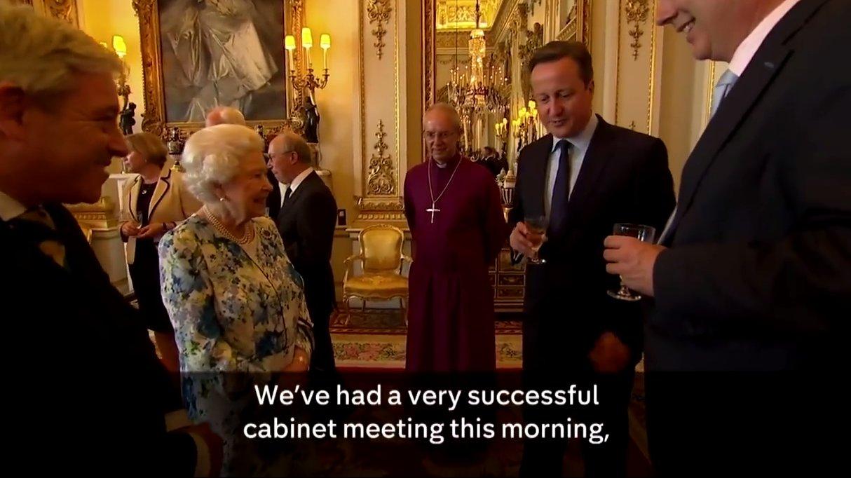 David Cameron im Buckhimham Palace