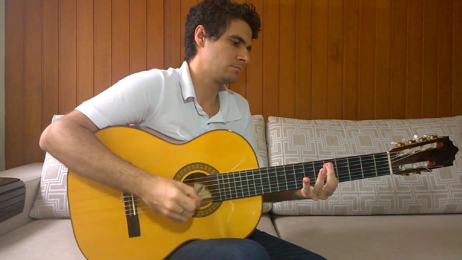 Star Wars-Melodie auf Gitarre