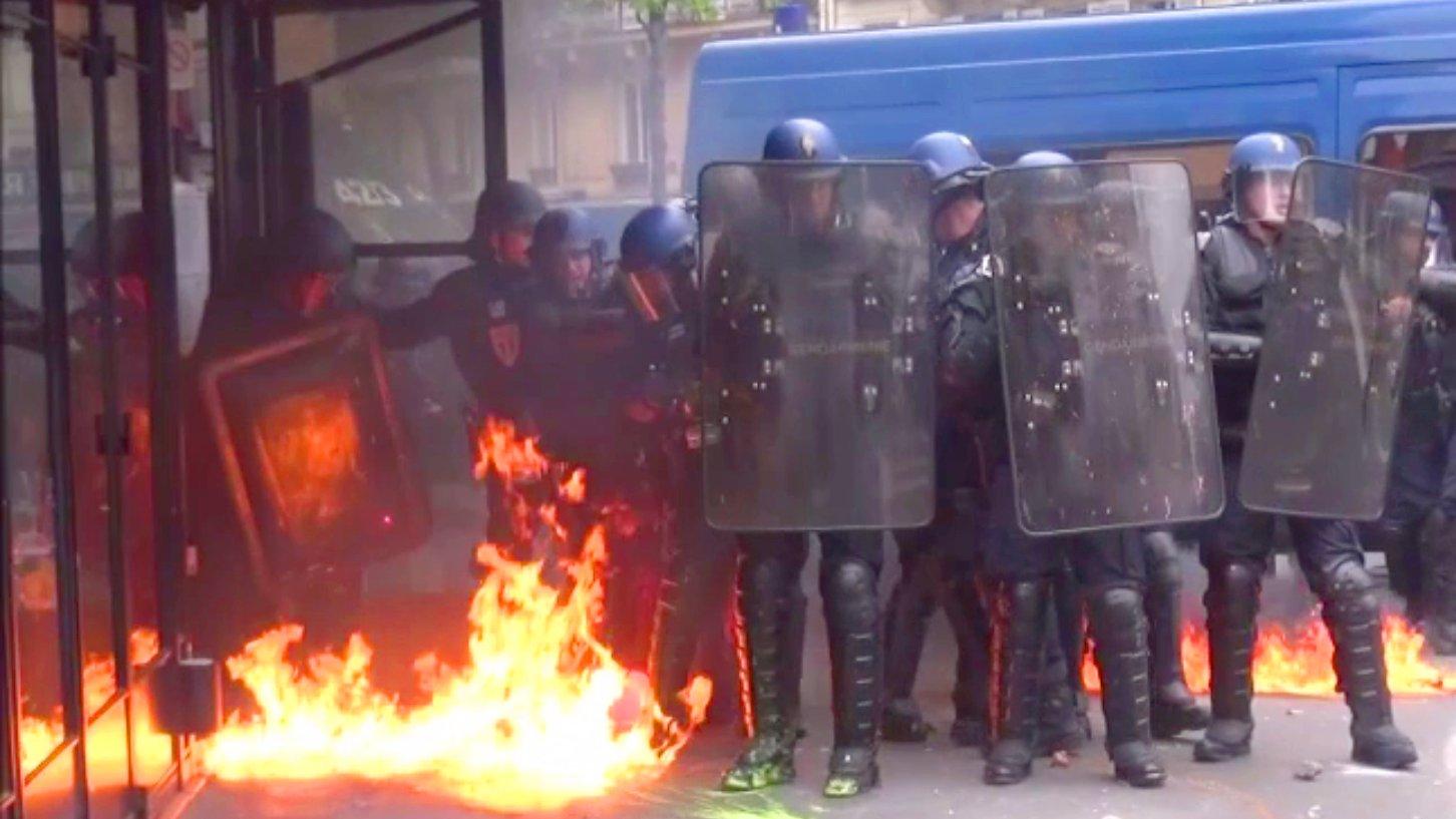 Proteste gegen Arbeitsmarktreform, Paris