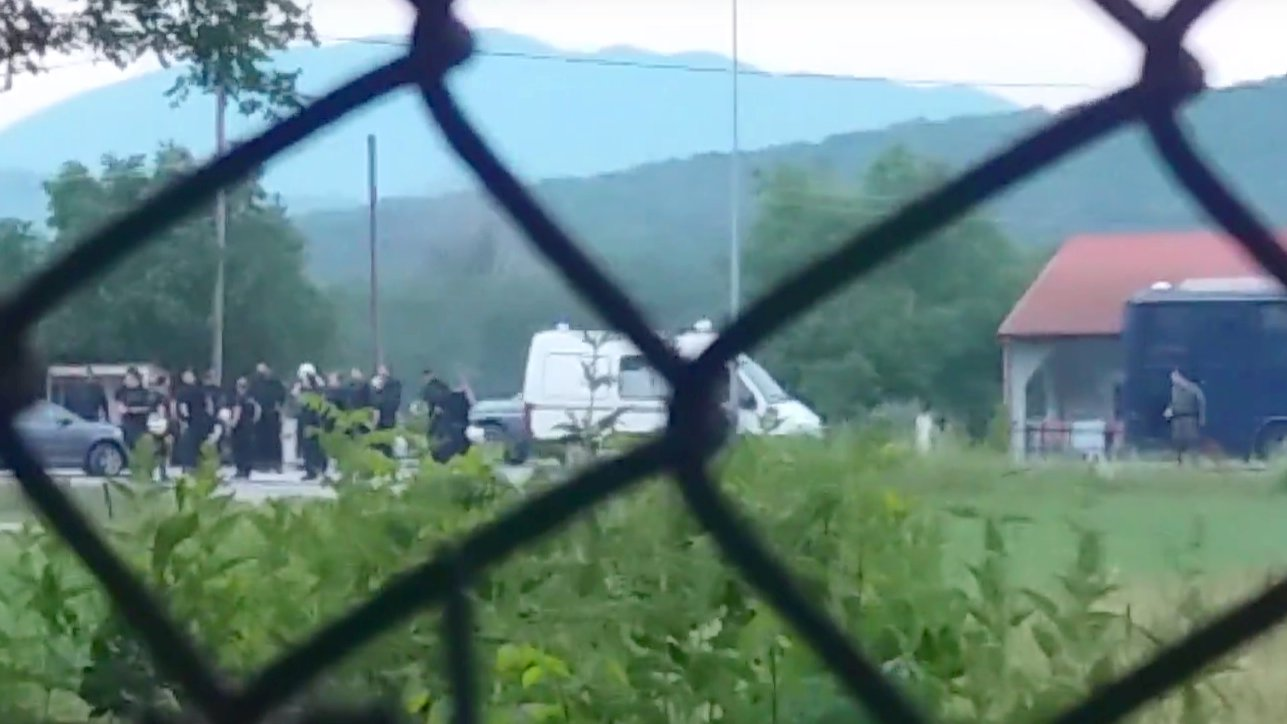 Räumung des Camps in Idomeni, video