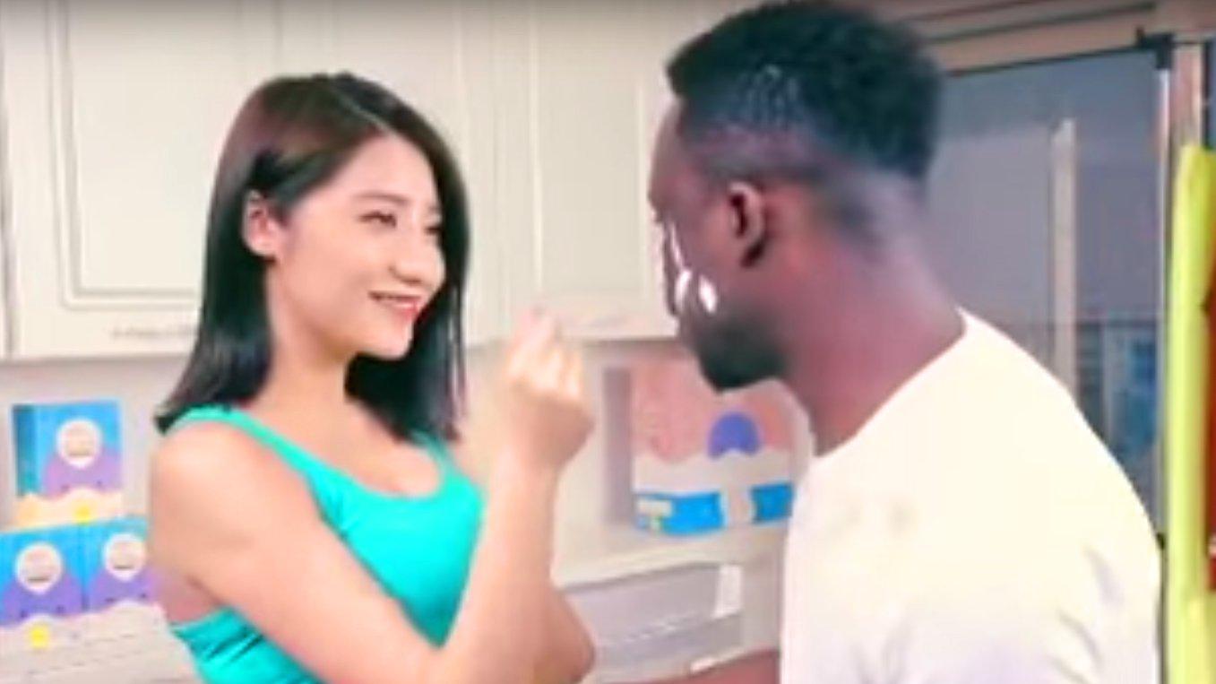 Rassistische Waschmittel-Werbung aus China