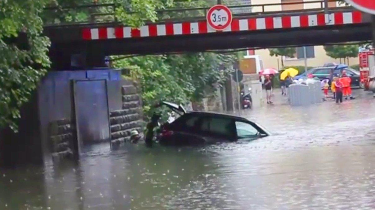 Hochwasser in Triftern, Bayern