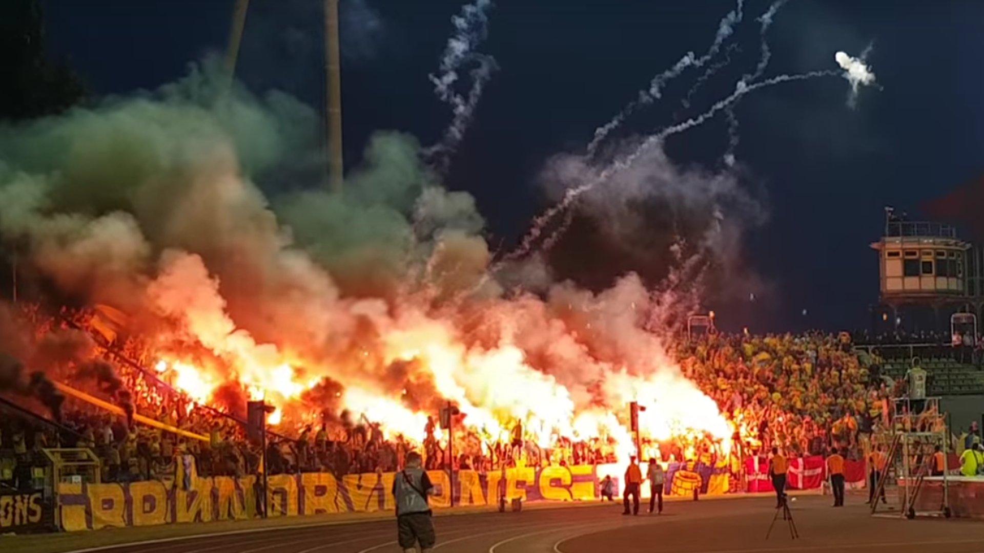 Bengalos bei Hertha vs. Bröndby