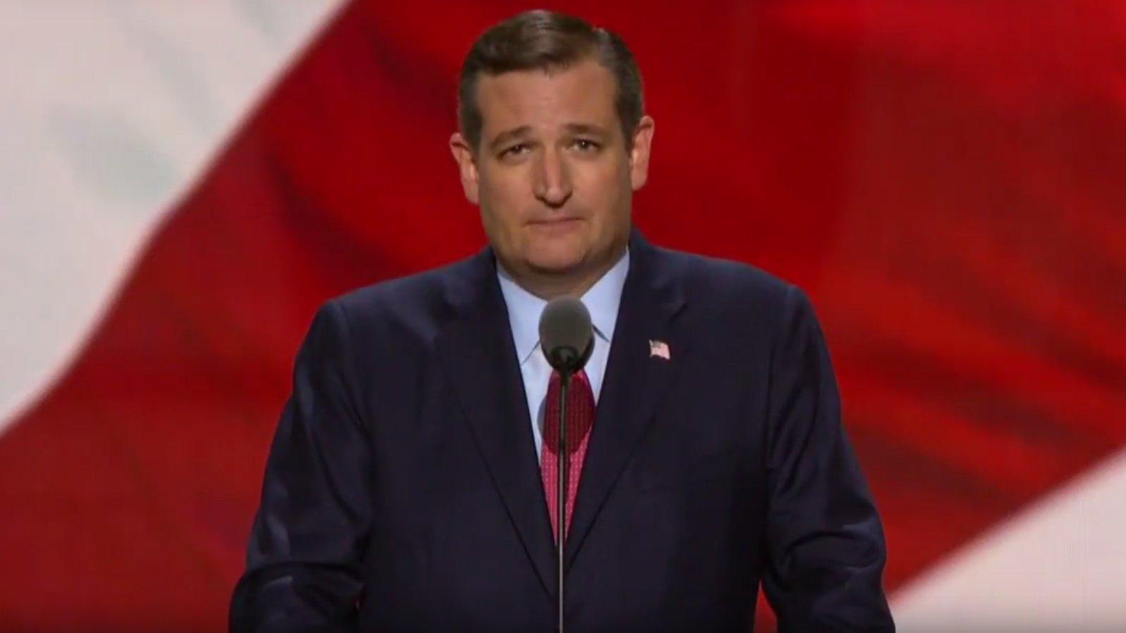 Ted Cruz auf dem Parteitag der US-Republikaner