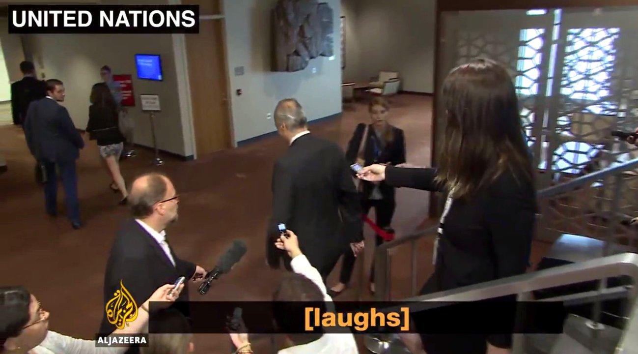 Syriens Uno-Botschafter lacht über Tote von Aleppo