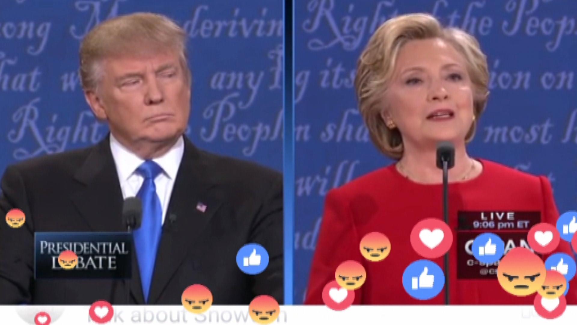 US-Wahlkampf: Clinton gegen Trump live auf Facebook