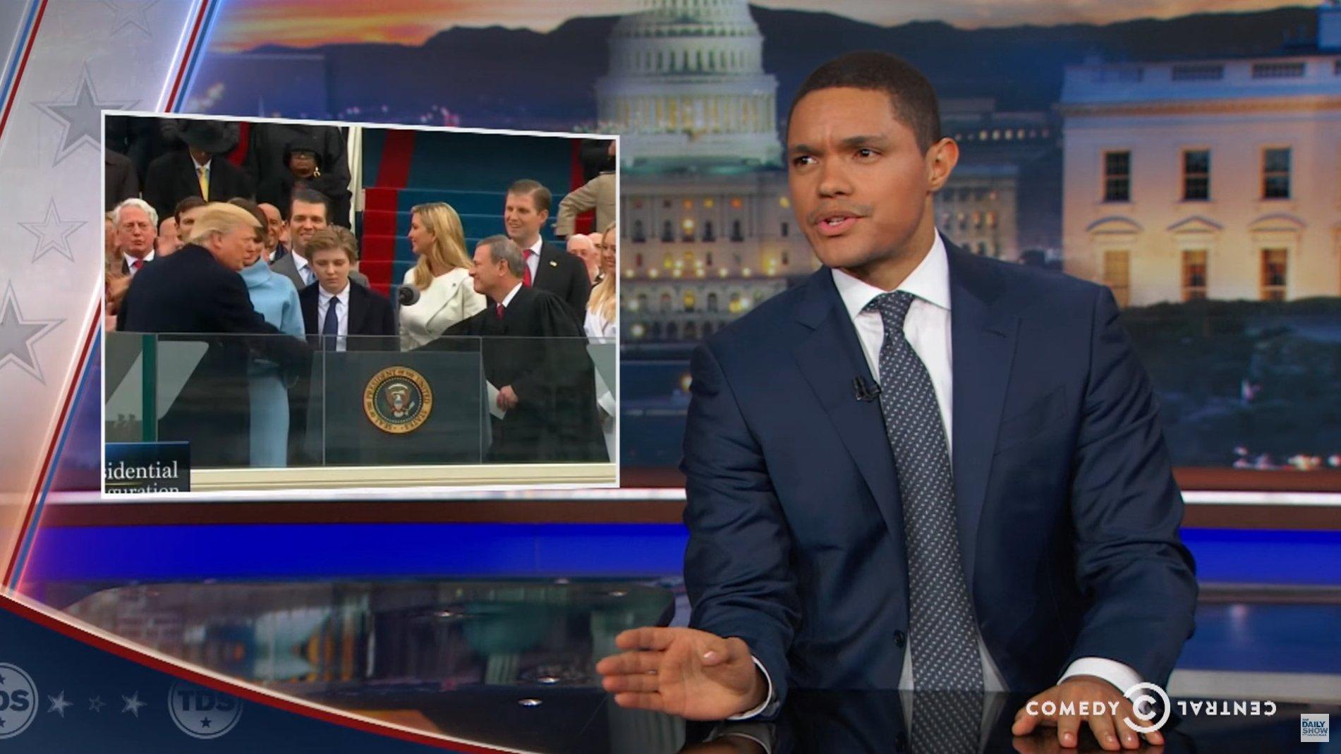 Leider kein Disney-Film: The Daily Show über Trumps Amtseinführung