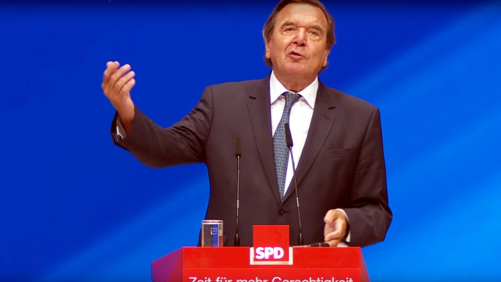 Altkanzler Schröder fordert bedingungslose Unterstützung für Schulz