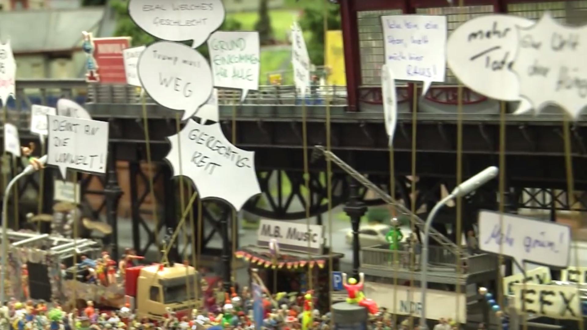 Miniatur Wunderland Hamburg: Das ist die kleinste G20-Demo der Welt
