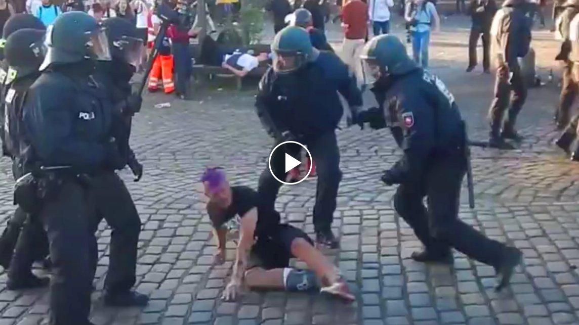 LiveLeak-Video zeigt Polizeigewalt beim G20-Gipfel in Hamburg, dbate
